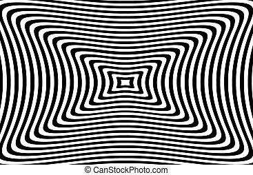 fasciner, résumé, hypnotique, image., vecteur, illustration.