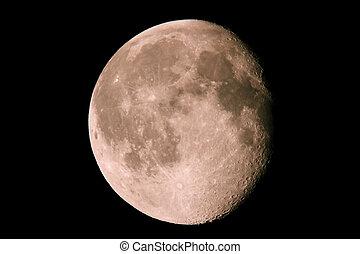 fase, di, luna, su, uno, cielo scuro, 15.08.11