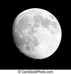 fase, di, luna, su, uno, cielo scuro