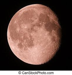 fase, di, luna, su, uno, scuro, sky., 15.08.11