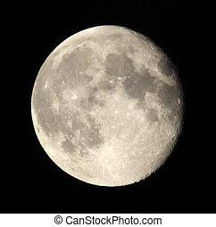 fase, di, luna, su, uno, scuro, sky., 18.06.11