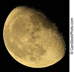 fase, di, luna, su, uno, scuro, sky., ucraina, donetsk, regione