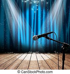 fase, e, microfone