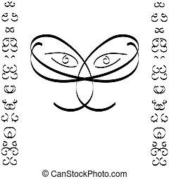 Face of tiger tattoo. Vectot illustration
