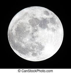 fase, van, de maan, volle, moon., oekraïne, donetsk, gebied,...