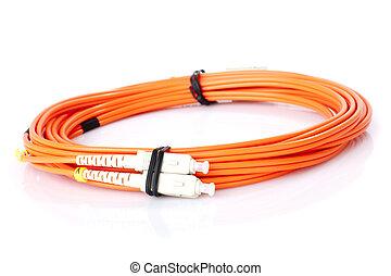 faser, kabel, vernetzung, optisch