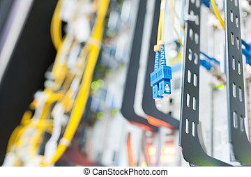 faser, zentrieren, optisch, technologie, server, daten