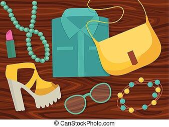 Fashion Accessories Composition