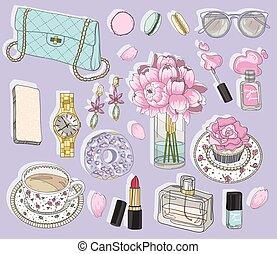 Fashion accessories set.