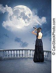 Fashion and moon
