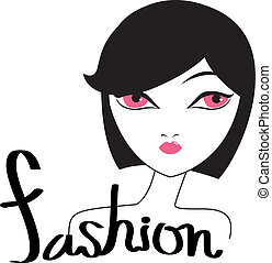 fashion and woman.eps  - is an illustration in eps file