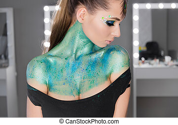 Fashion Art Portrait .Makeup