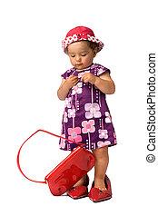 Fashion Baby Girl Posing