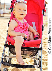 fashion baby in stroller