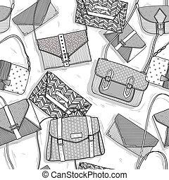 Fashion bags seamless pattern