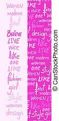 Fashion banner femme - Creative design of fashion banner ...