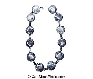 fashion beads necklace jewelry with semigem crystals labradorite