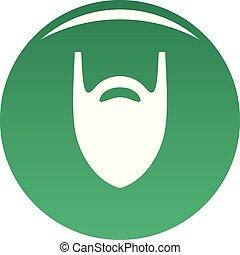 Fashion beard icon vector green