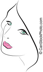 Fashion beautiful woman. Vector