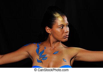 Fashion bikini woman