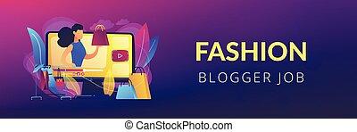 Fashion blog concept banner header.