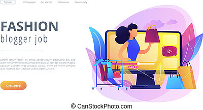 Fashion blog concept landing page.