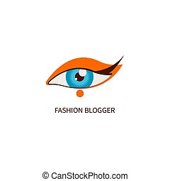 Fashion blogger, eye makeup