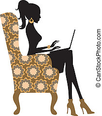 Fashion Blogger - Illustration of a young fashionable woman...