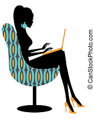 Fashion Blogger - Illustration of a young fashionable woman ...