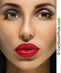 Fashion Brunette Model Portrait.