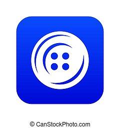 Fashion button icon blue
