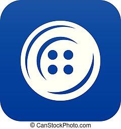 Fashion button icon blue vector