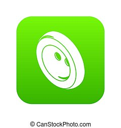 Fashion clothes button icon green