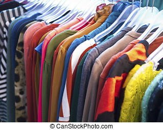 fashion clothes - fashion style suits and clothes at rail
