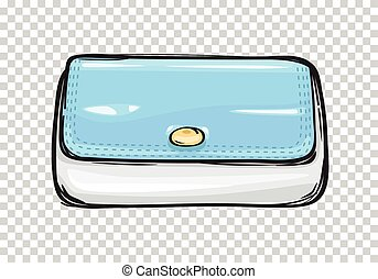 Fashion Clutch Bag or Purse Flat Theme Art Style - Trendy...