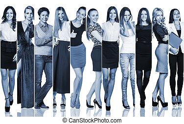 Group of beautiful young women