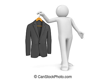 Fashion collection - Couturier and new jacket - 3d ...