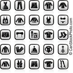 Fashion collection icons