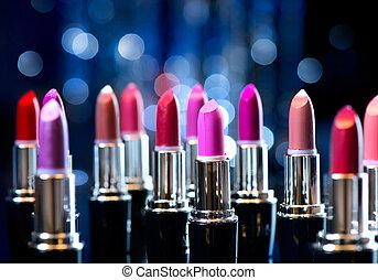 Fashion Colorful Lipsticks. Professional Makeup and Beauty