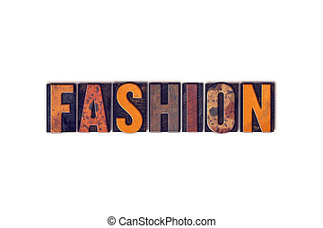 Fashion Concept Isolated Letterpress Type