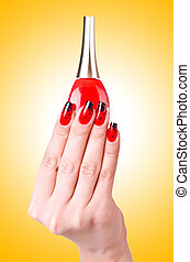 Fashion concept with nail art