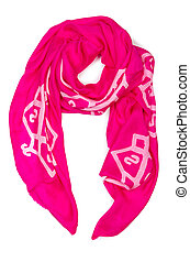 Fashion concept with scarf on white