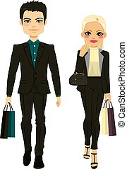 Fashion Couple Shopping