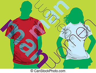 Fashion Couple. Vector illustration