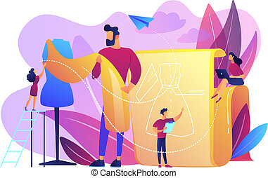 Fashion design concept vector illustration.