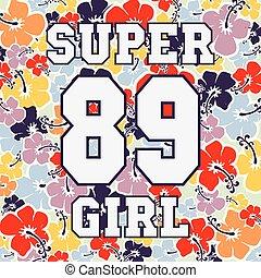 Fashion design print for girl