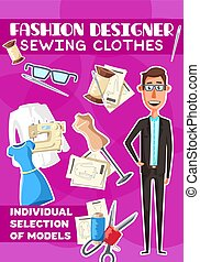 Fashion designer and sewing clothes - Fashion designer or ...
