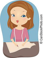 Fashion Designer Pattern Paper - Illustration of a Female...