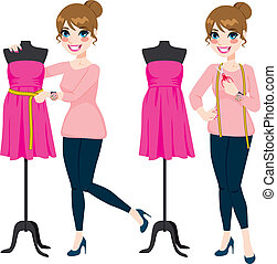 Fashion Designer Woman - Beautiful young fashion designer...