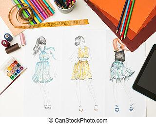 fashion designer workspace